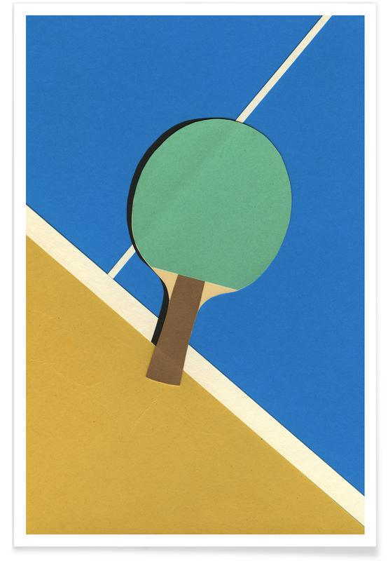 Table Tennis Team Green -Poster