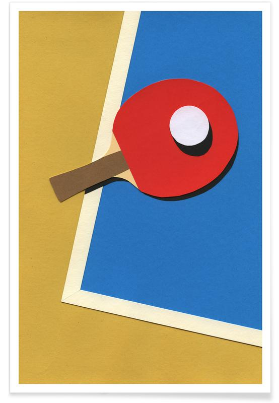 Table Tennis Team Red Poster