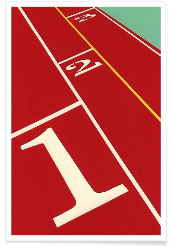 , Running Track 123 poster