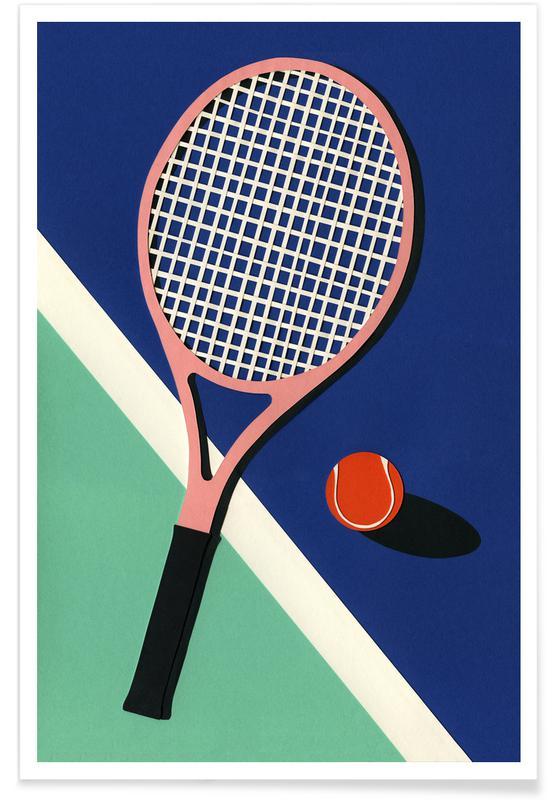 Tennis, Malibu Tennis Club Plakat