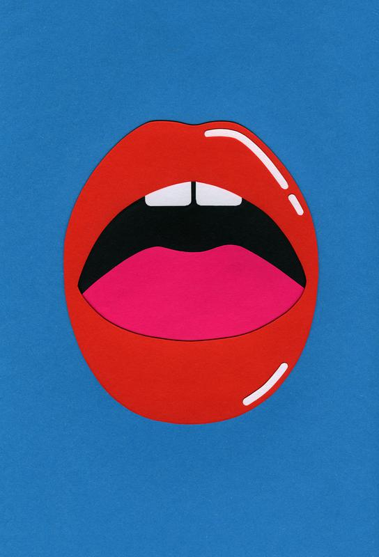 Red Lips Acrylic Print