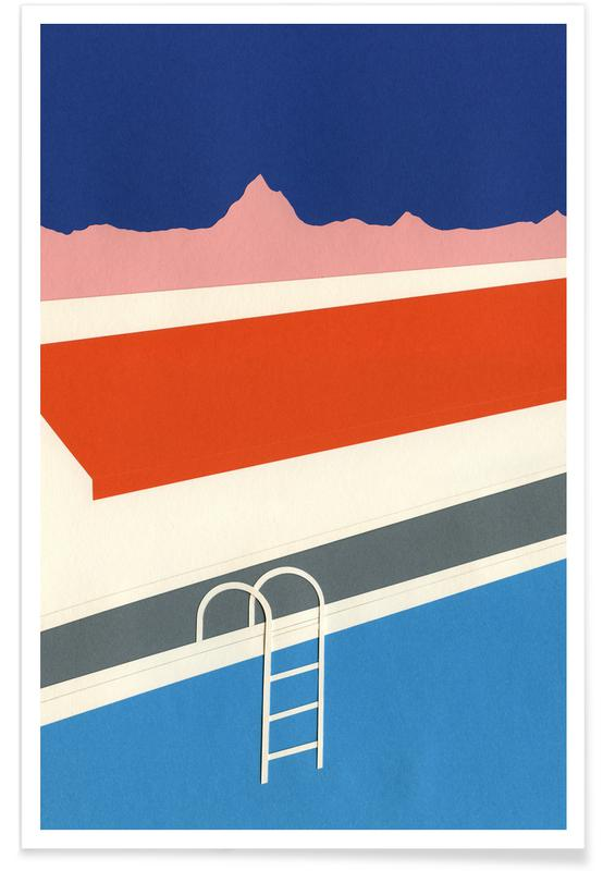 Architectural Details, Keoughs Hot Springs Poster