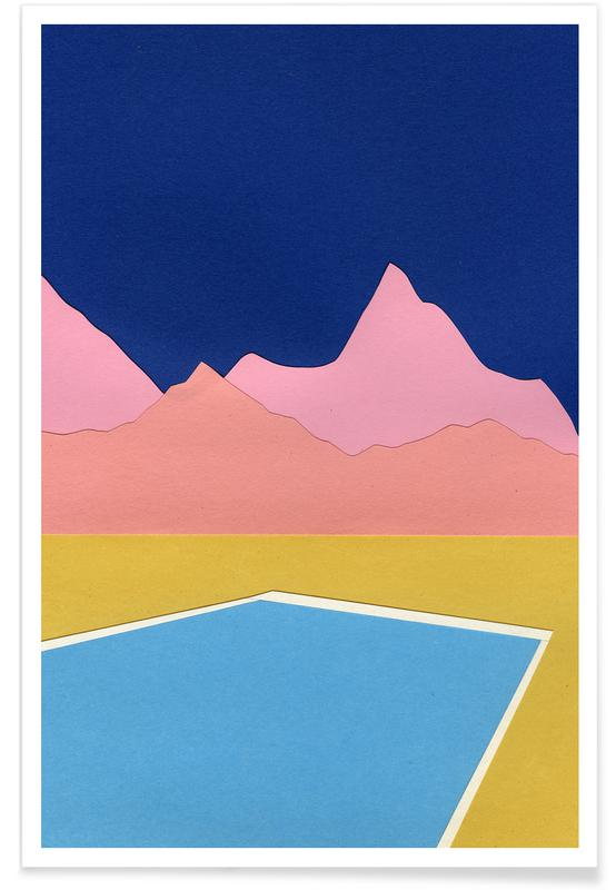 Pool In The Hills Poster