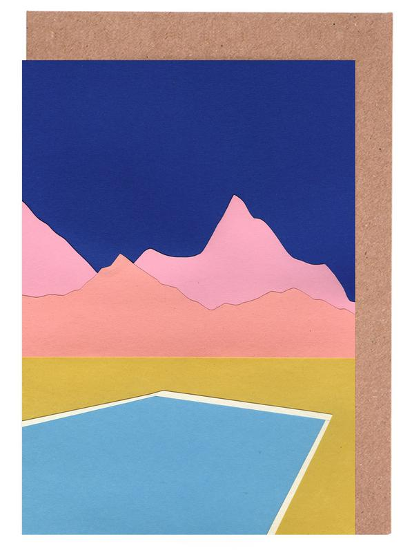 Pool In The Hills Greeting Card Set