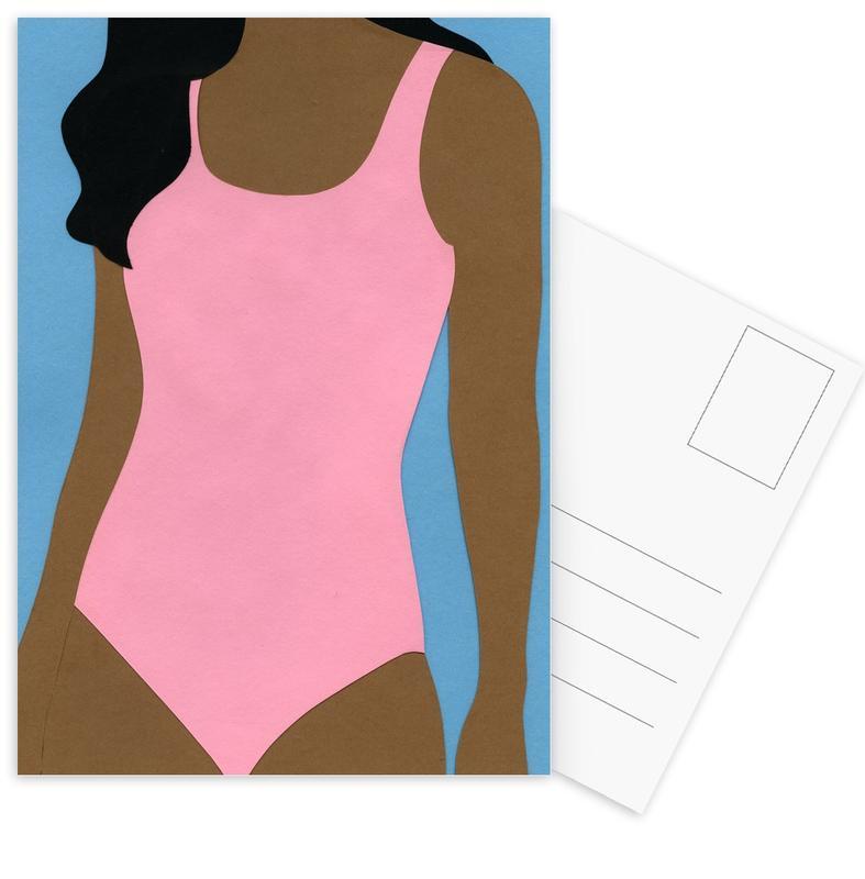 Körperformen, Pink Swimsuit -Postkartenset