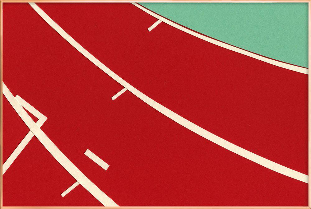 Tartan Track -Poster im Alurahmen