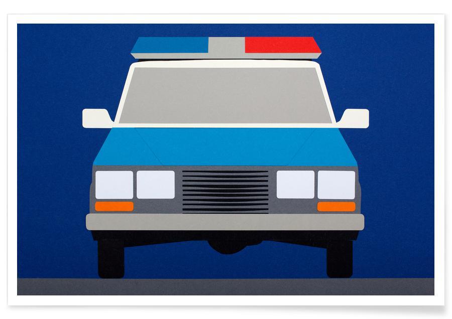 Voitures, Police Car 1988 affiche