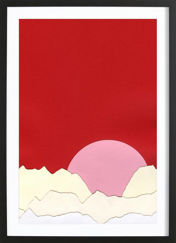 Sunset Styria ingelijste print