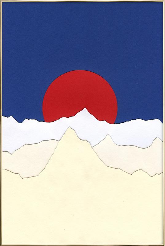French Alps -Poster im Alurahmen