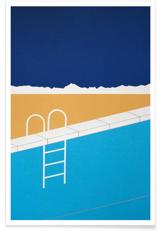Architekturdetails, Desert Pool -Poster