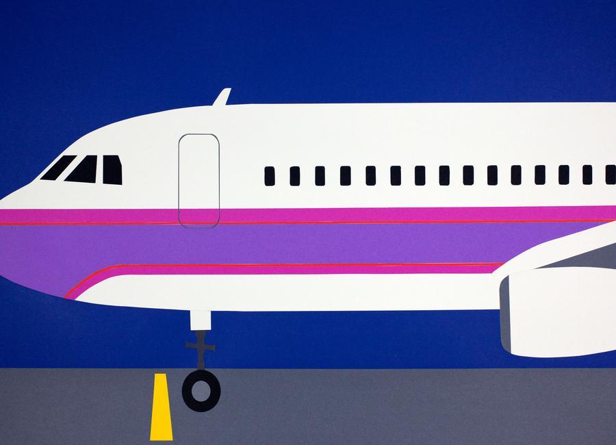 Airplane A320 canvas doek