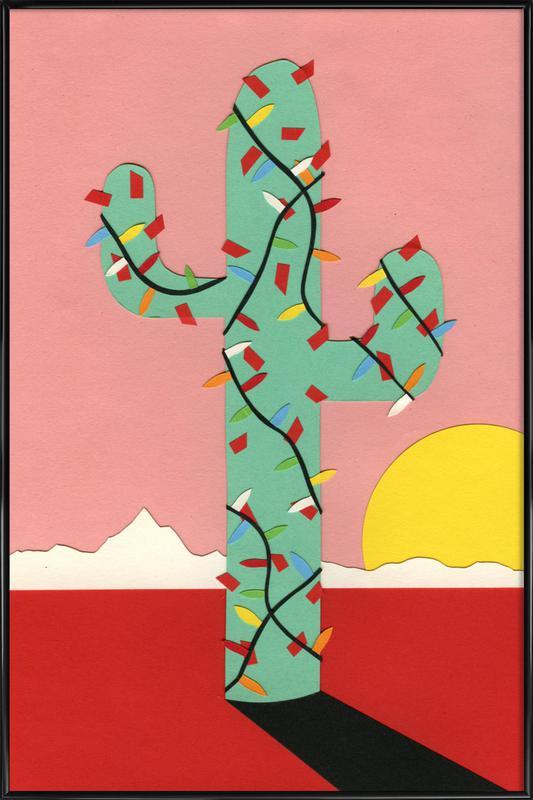 Christmas Cactus ingelijste poster