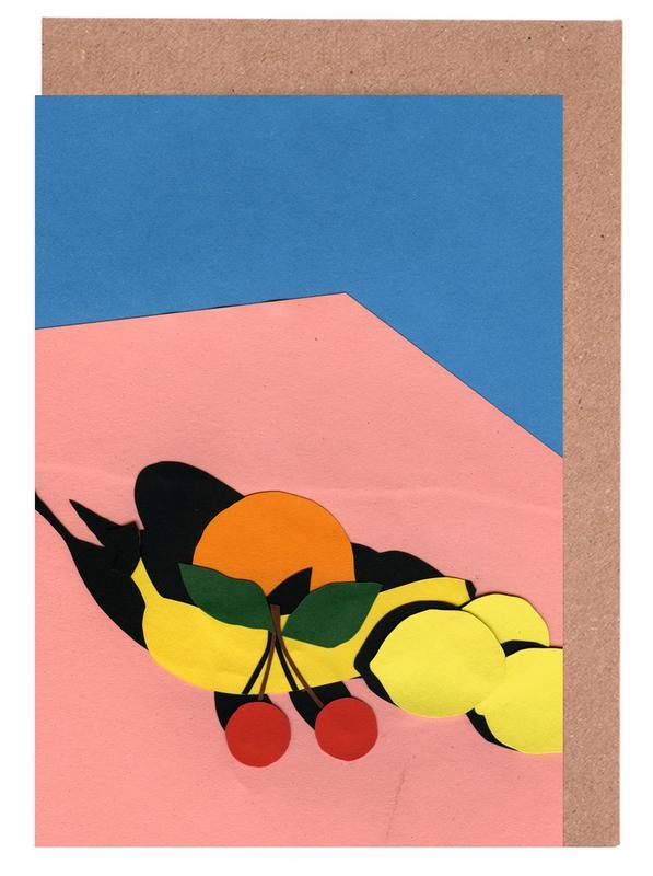 , Fruits On The Table -Grußkarten-Set