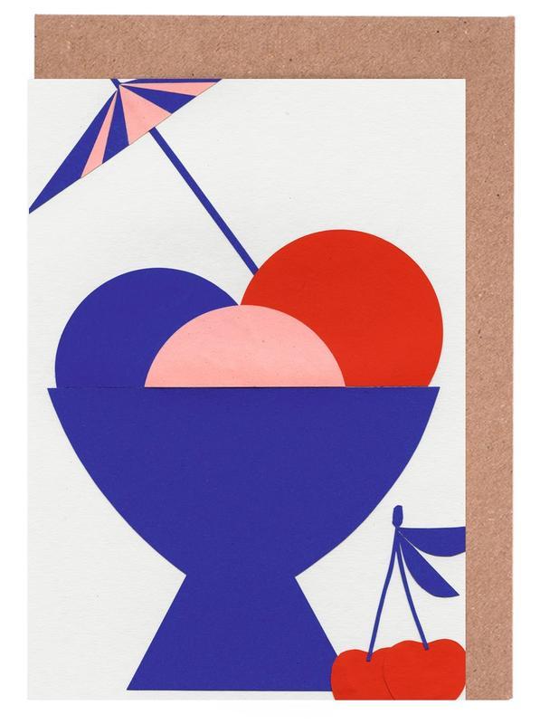 Kinderzimmer & Kunst für Kinder, Mixed Cup Of Ice Cream -Grußkarten-Set