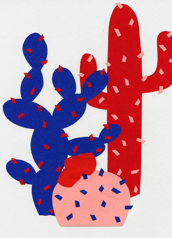 Three Succulents -Leinwandbild