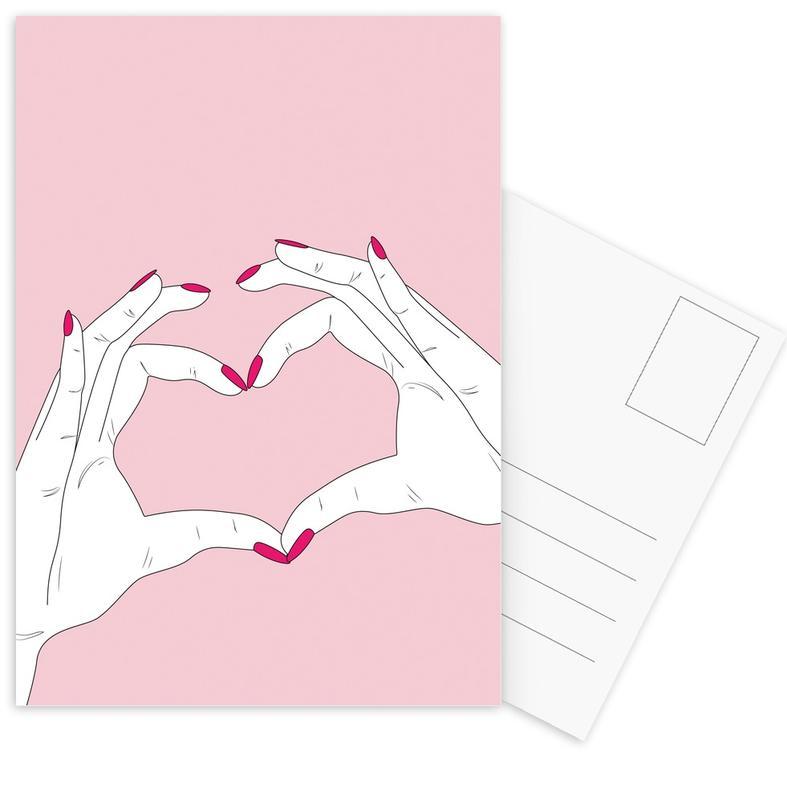Liebe & Jahrestage, Herzen, We Heart You -Postkartenset