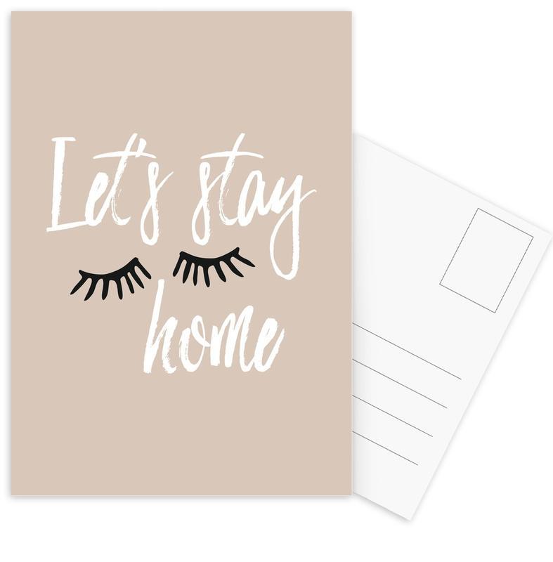 Zitate & Slogans, Let's Stay Home -Postkartenset