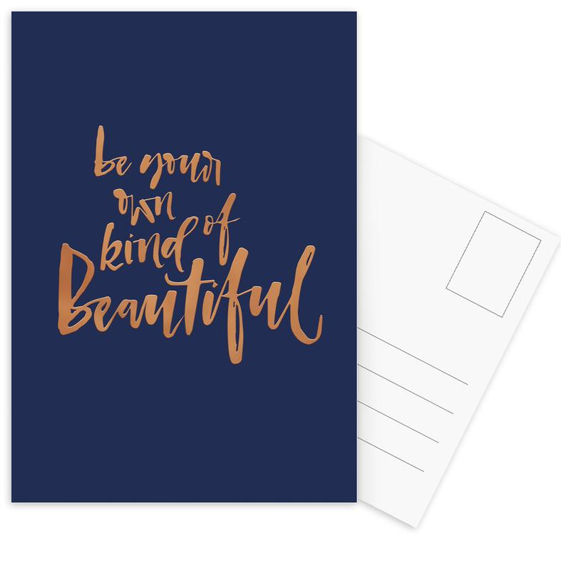 Motivation, Be Your Own Kind of Beautiful -Postkartenset