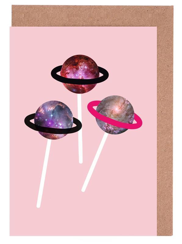 Lollipops, Pink Planet -Grußkarten-Set