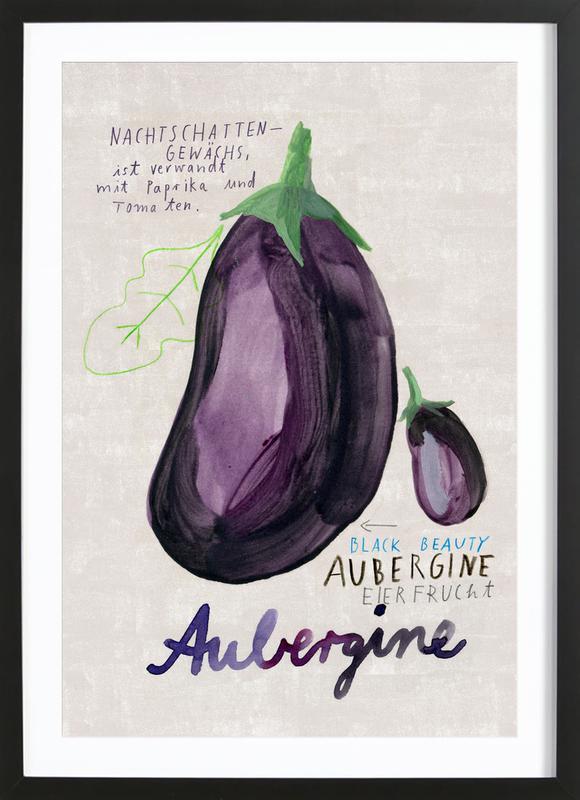 Aubergine -Bild mit Holzrahmen