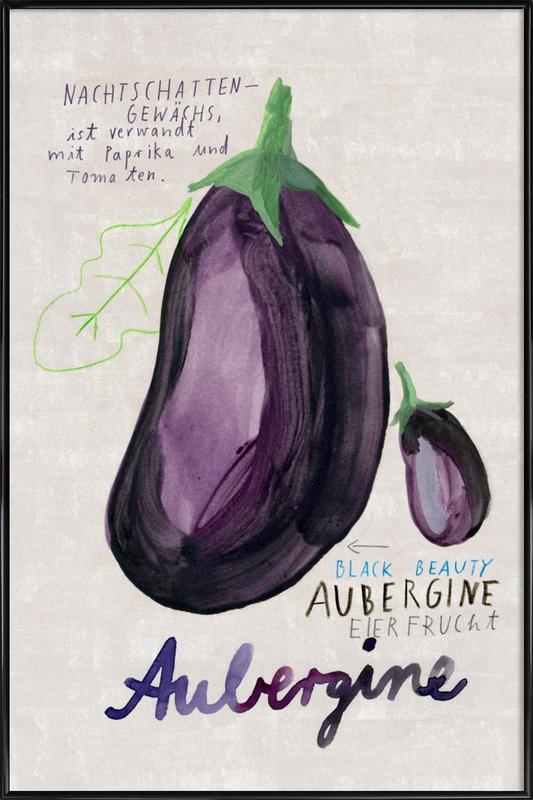 Aubergine -Bild mit Kunststoffrahmen
