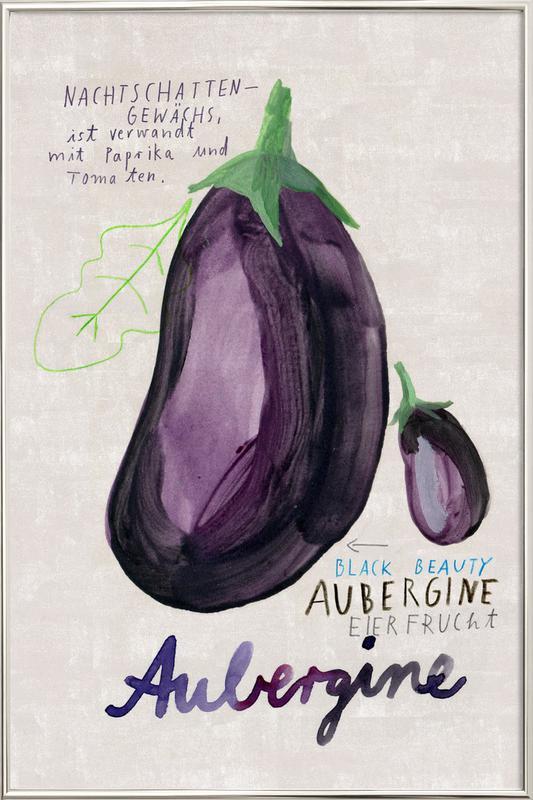 Aubergine -Poster im Alurahmen