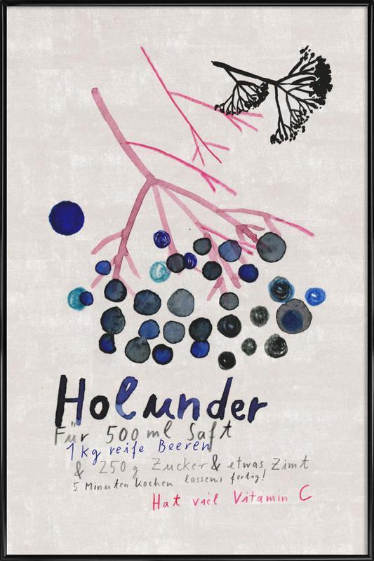 Hollunder -Bild mit Kunststoffrahmen