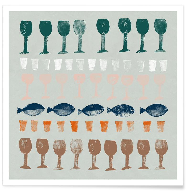 Fish and Wine 1 -Poster