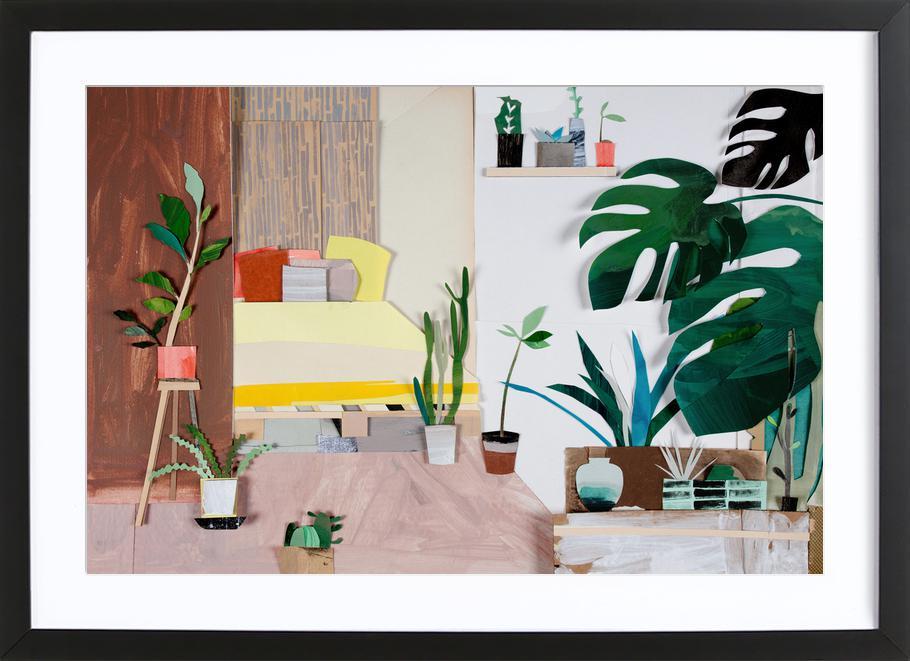 My Home Is My Garden -Bild mit Holzrahmen