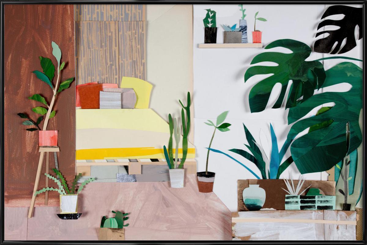 My Home Is My Garden -Bild mit Kunststoffrahmen