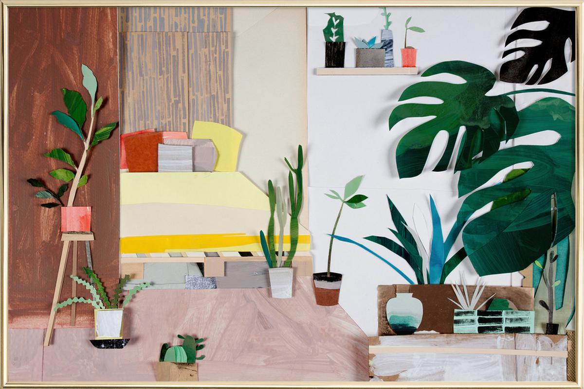 My Home Is My Garden -Poster im Alurahmen