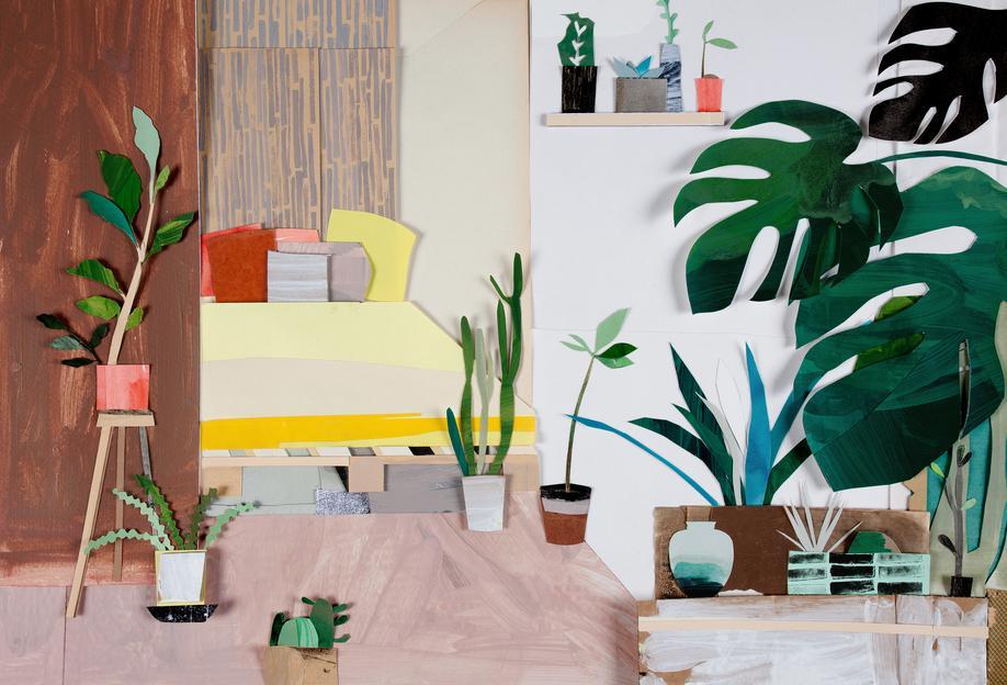 My Home Is My Garden Aluminium Print