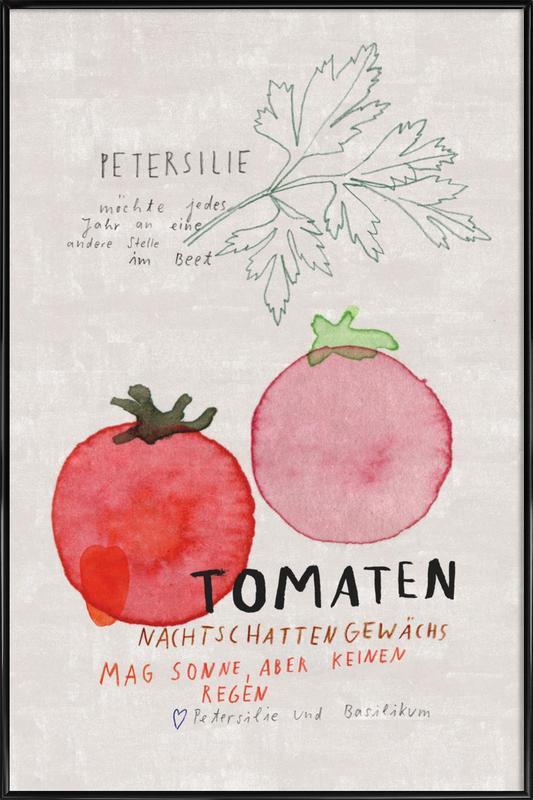 Tomate -Bild mit Kunststoffrahmen