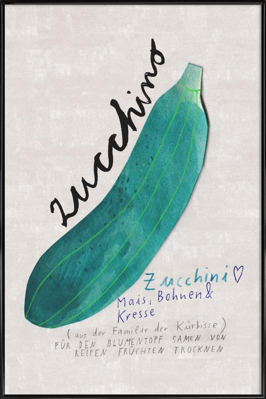 Zucchini -Bild mit Kunststoffrahmen