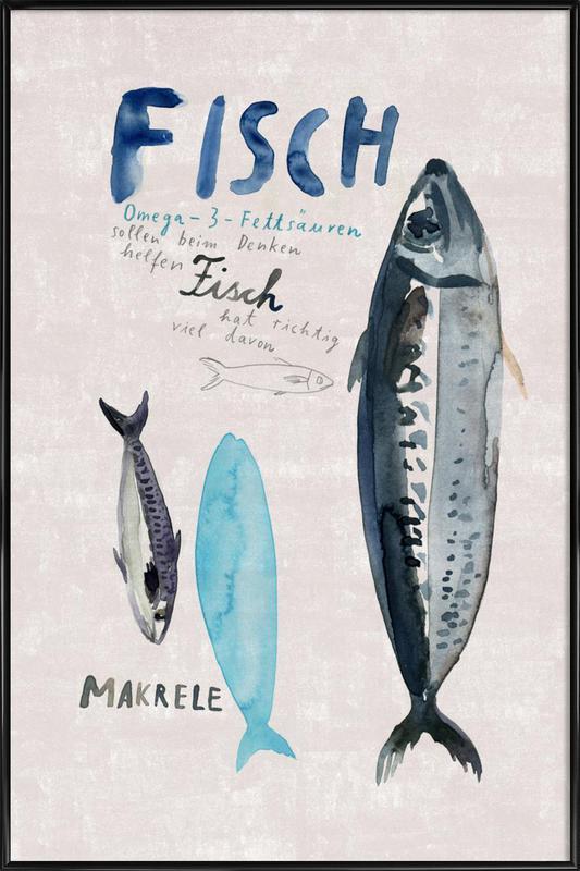 Fisch -Bild mit Kunststoffrahmen