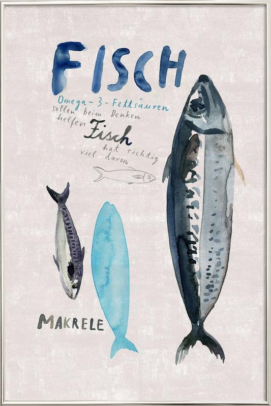 Fisch -Poster im Alurahmen