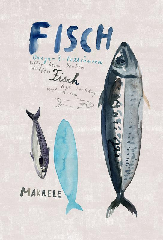 Fisch -Alubild