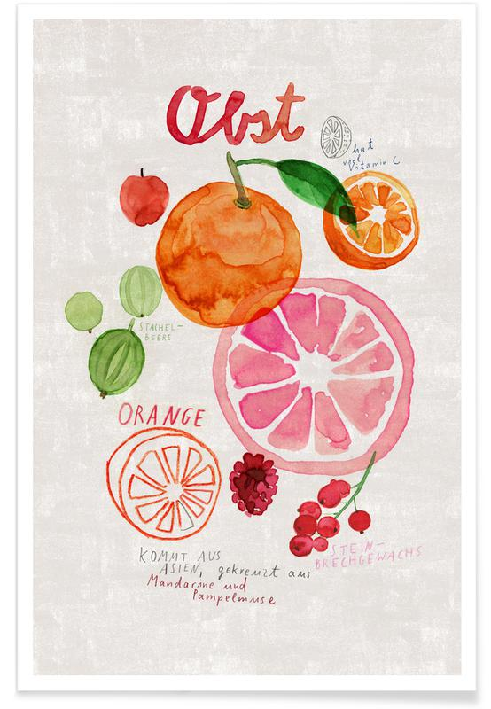 , Obst -Poster
