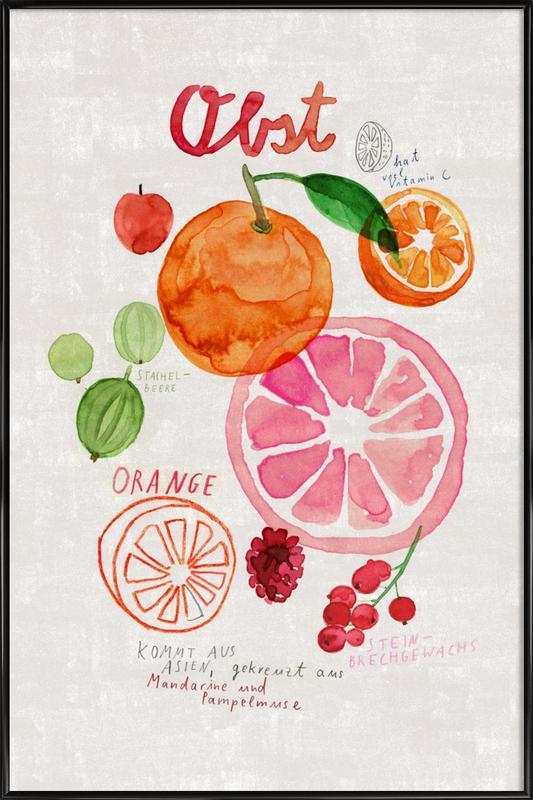 Obst -Bild mit Kunststoffrahmen