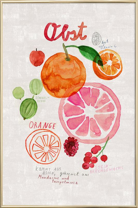 Obst -Poster im Alurahmen