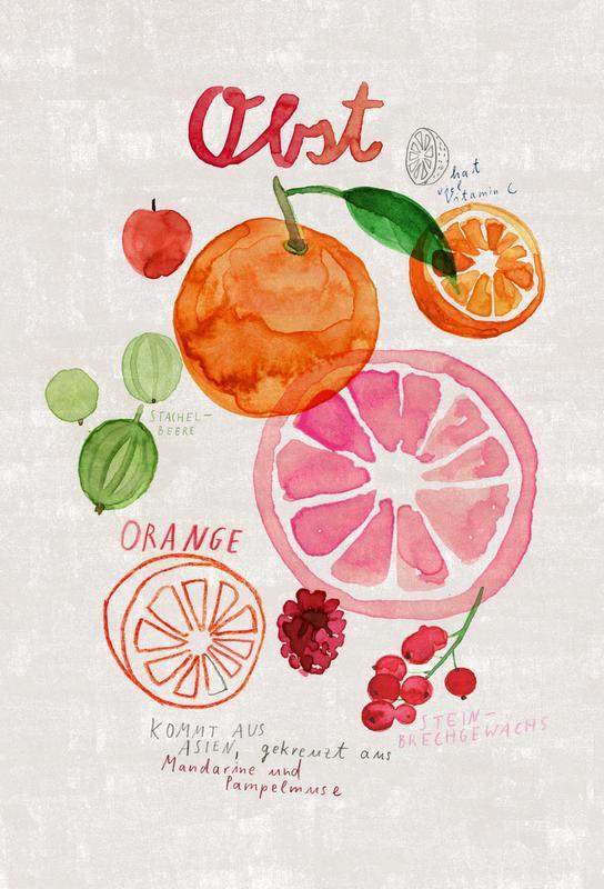 Obst -Acrylglasbild