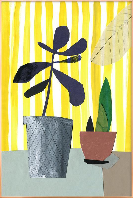 Fensterbank 1 -Poster im Alurahmen