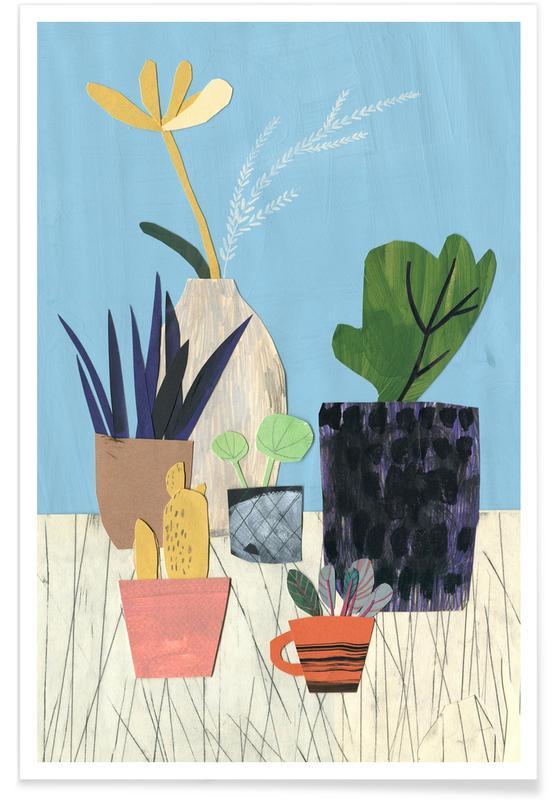 Blätter & Pflanzen, Fensterbank 2 -Poster