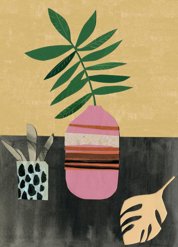 Vasen & Co. 4 canvas doek