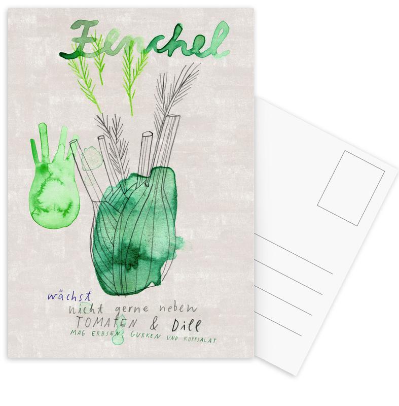 Fenchel -Postkartenset