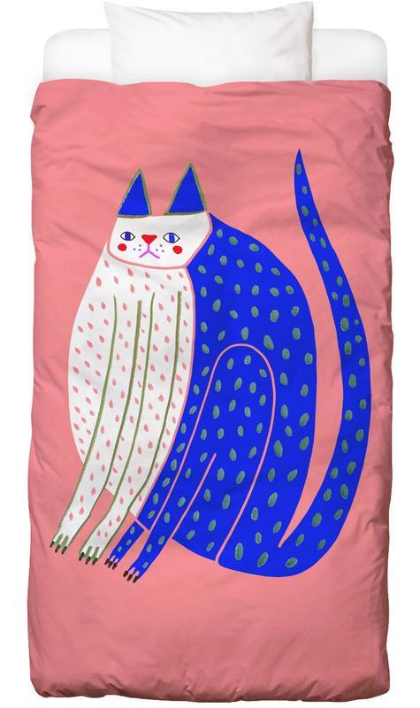 Katzen, Kinderzimmer & Kunst für Kinder, Cat Spotted -Kinderbettwäsche