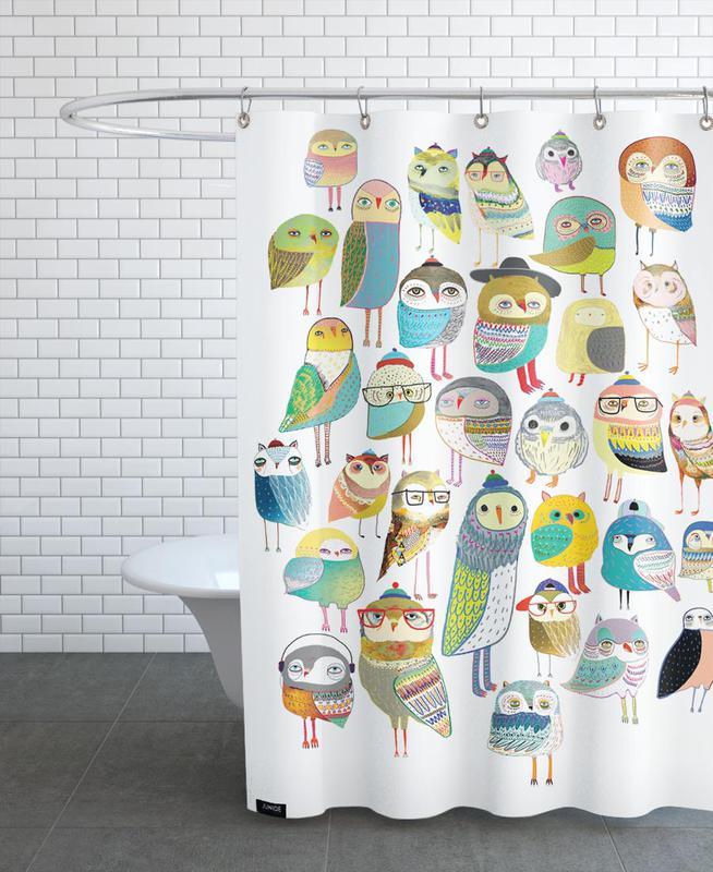 Nursery & Art for Kids, Owls, Owl Hundreds Shower Curtain