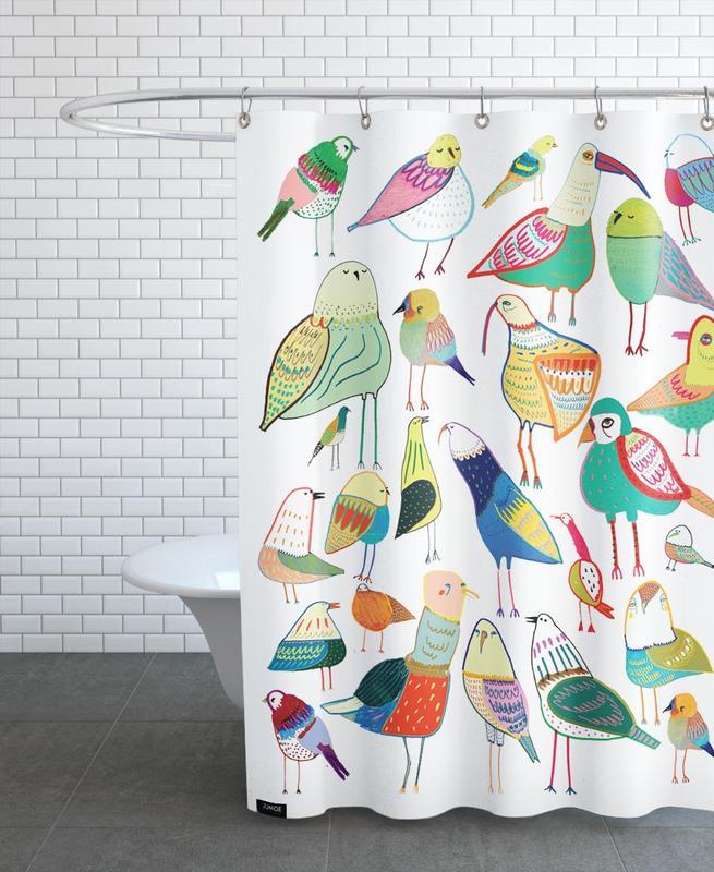 Birds New -Duschvorhang