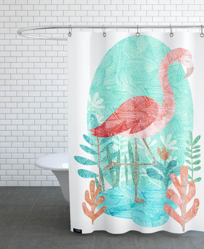 Flamingo rideau de douche
