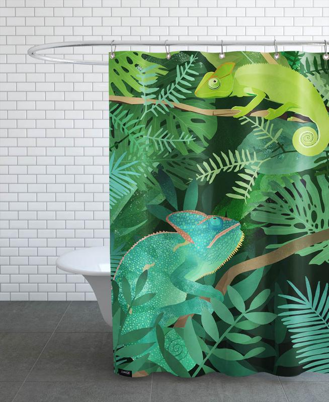 Nursery & Art for Kids, Chameleons Shower Curtain